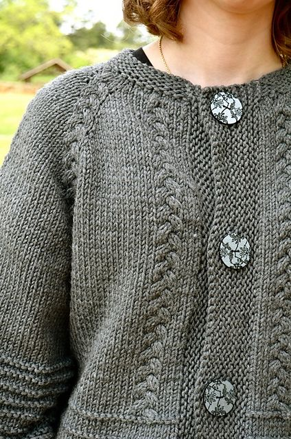 Scarlett's Cardy - Beautiful Top-down with a twist in chunky wool - Annie Riley