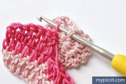 Kalp motifli bebek battaniyesi yapılışı 10