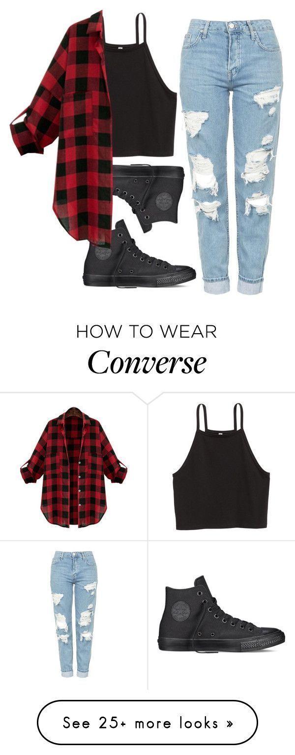 Süße Outfits ohne Titel # 274 von miarojo auf Polyvore mit Topshop und Convers…