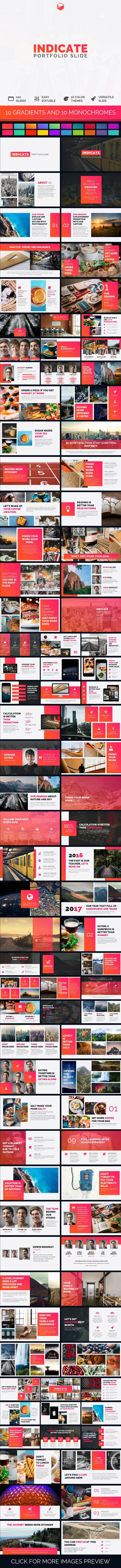 Indicate - Portfolio Slide - #PowerPoint Templates #Presentation #Templates Download here: https://graphicriver.net/item/indicate-portfolio-slide/19514507?ref=alena994