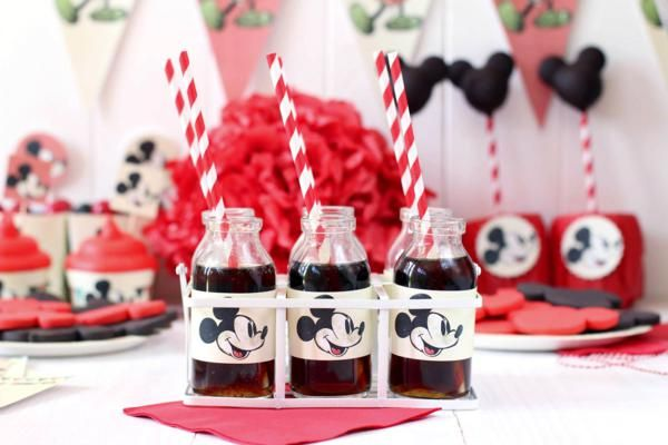 FREE PRINTABLES for Vintage Mickey Mouse Party via Kara's Party Ideas