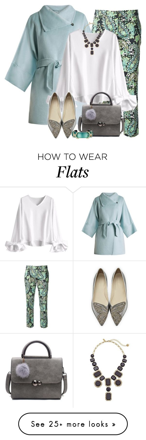 """""""Untitled #2964"""" by jodilambdin on Polyvore featuring MaxMara, Trēs Chic S.A.R.T.O.R.I.A.L., Sophia Webster, Kate Spade and Alexis Bittar"""