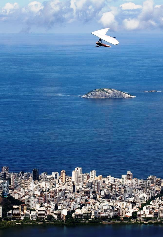Hang gliding in Rio de Janeiro. Taking off from Pedra Bonita - Gávea. On the bucket list!