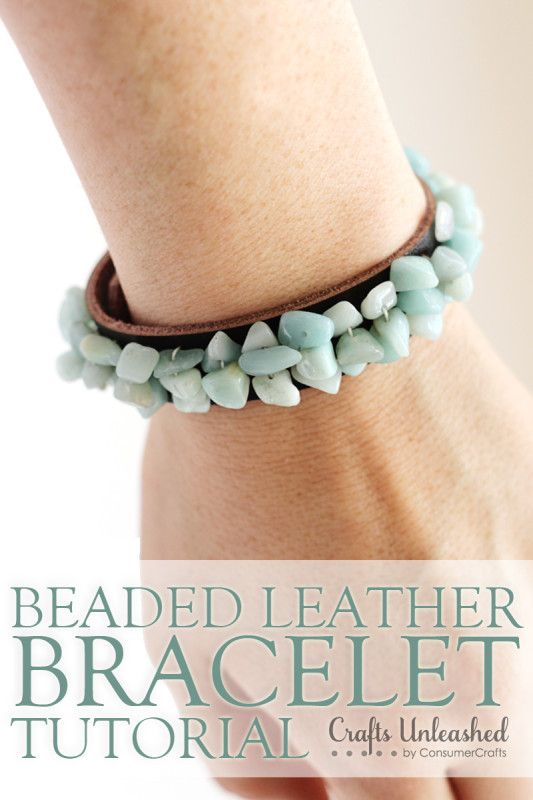 Beaded Leather Bracelet for Women - Crafts Unleashed