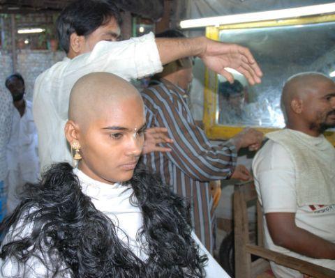 Hair cut shaving fetish stories
