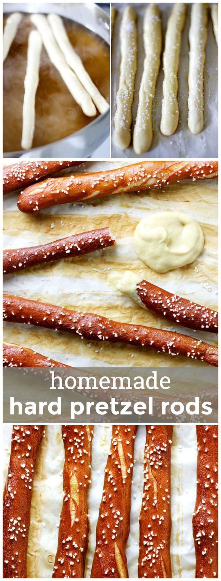 Homemade Hard Pretzel Rods -- Make your own salty snacks with my go-to recipe! girlversusdough.com @girlversusdough