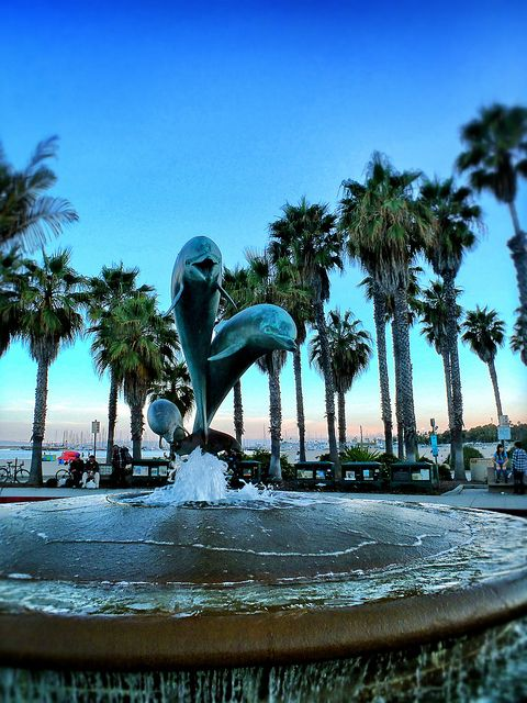 Stearns Warf Dolphin Fountain in Santa Barbara California via flickr