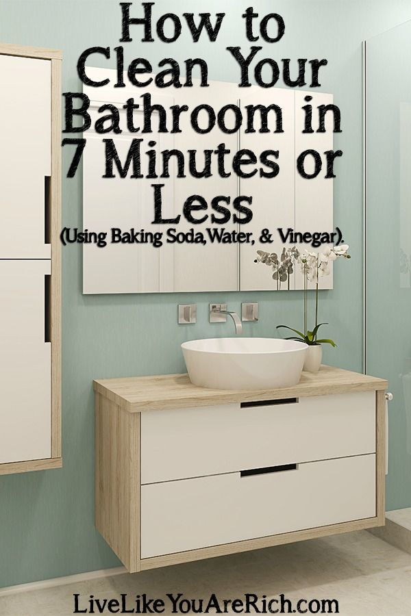 Step by step quick 7 minutes or less bathroom cleaning tutorial.