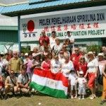 Magyar csapatunk a Spirulina farmon