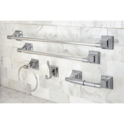 $60 / overstock.com Chrome 5-piece Bathroom Accessory Set