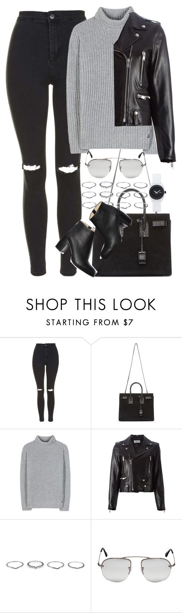 """Untitled #3899"" by amyn99 on Polyvore featuring Topshop, Yves Saint Laurent, Loro Piana, Paul Andrew, Prada and Nixon"