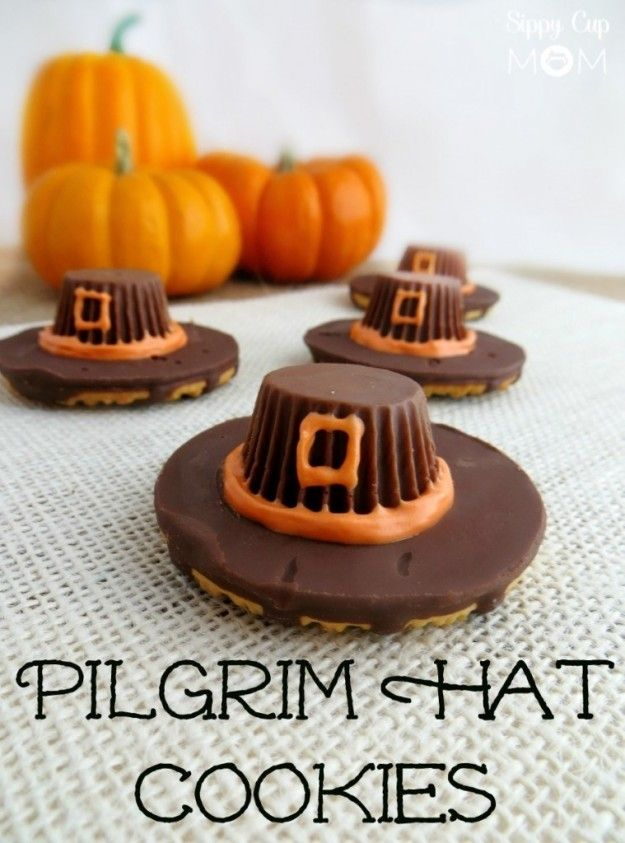 Pilgrim Hat Cookies | 19 Delicious Thanksgiving Treats That Will Blow Your Kids' Minds