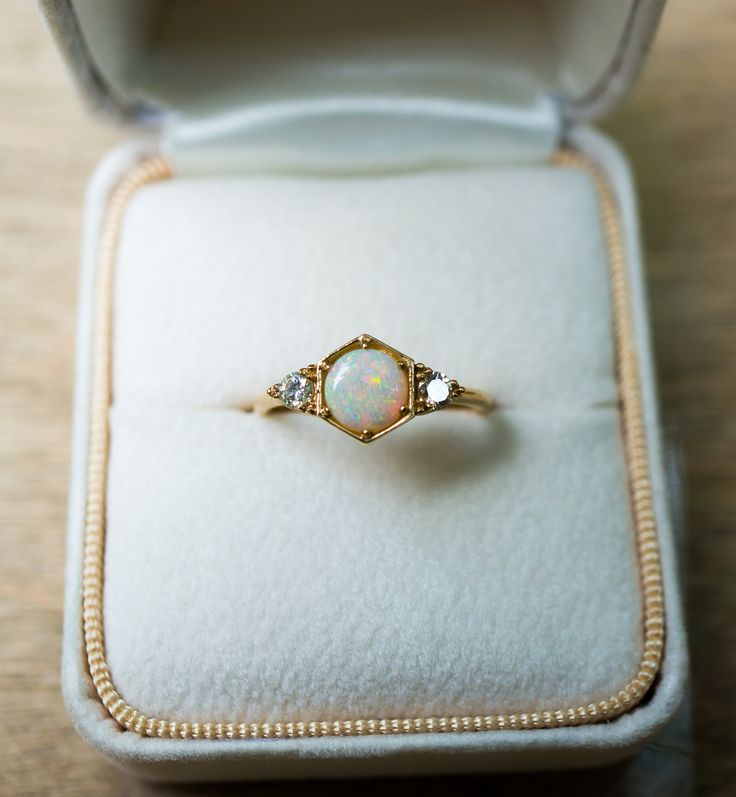 l diamond natural la products opal gold product amour white rings engagement and ring