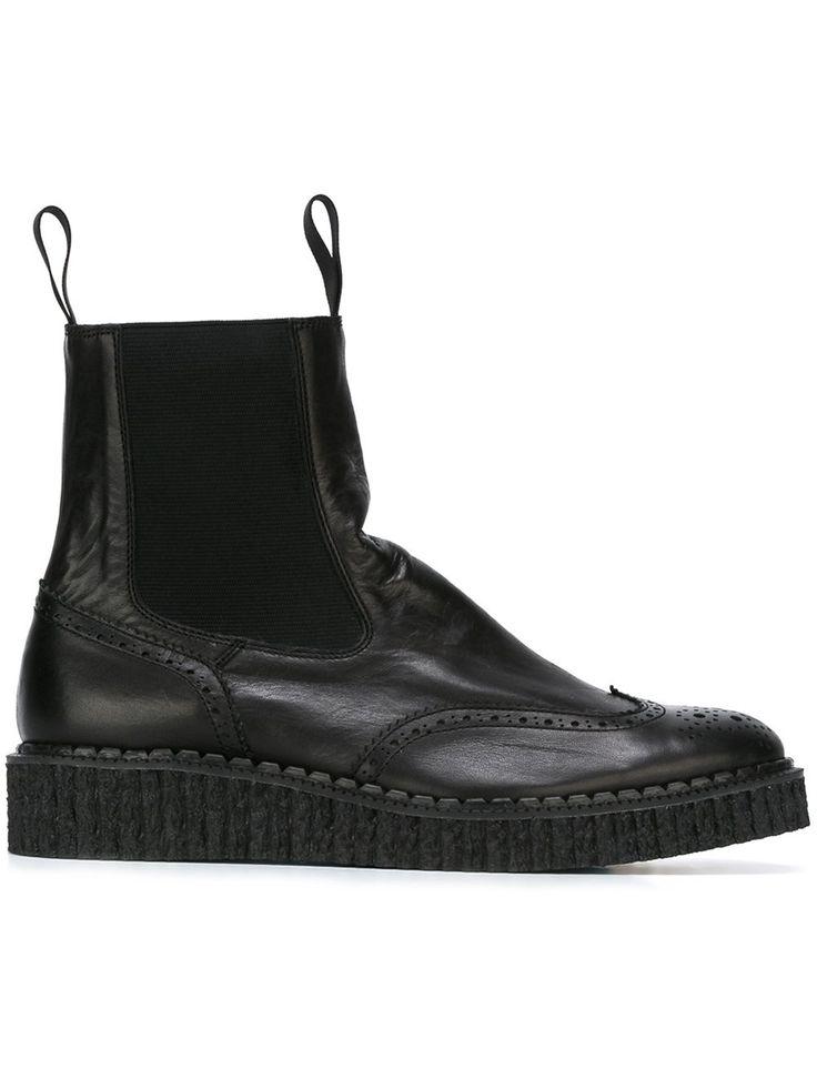 Yohji Yamamoto brogue chelsea boots