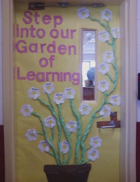 Door display for unit on plants: Classroom Idea, Classroom Doors For Spring, Doors Idea, Doors Display, Doors Decoration, Plants Classroom Display, Spring Doors For Classroom, Plants United, Gardens Themed Classroom Doors