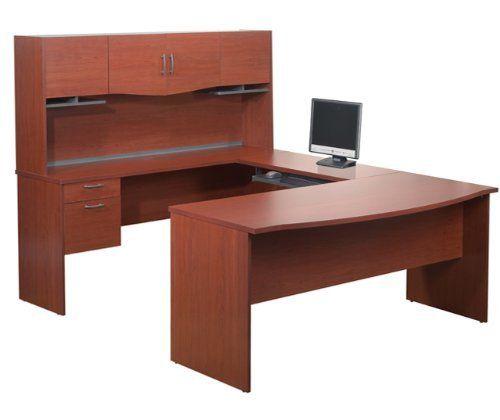 Sleek Bordeaux U-Shaped Computer Desk with Hutch, http://www.amazon.com/dp/B00BHHT53I/ref=cm_sw_r_pi_awdm_kVA3sb0TC6M6C