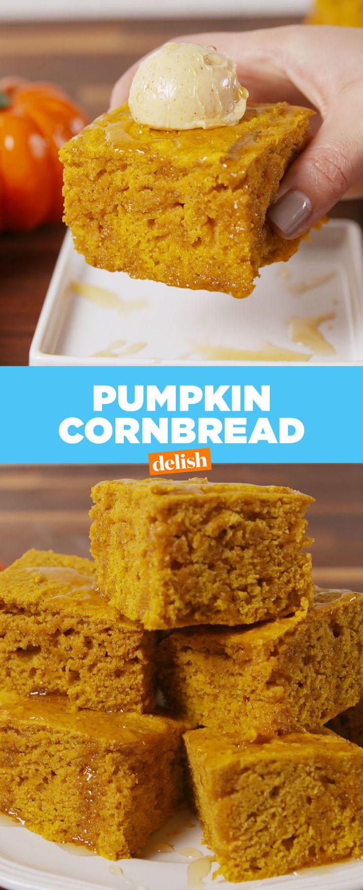 Pumpkin Cornbread - Delish.com