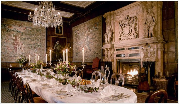 Hatfield House - Fibre Optic Lighting that Absolute Action did for The Winter Dining Room
