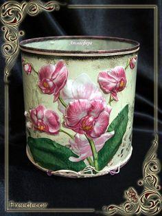 Объемный декупаж: мастер-класс декорирования «Нежная Орхидея» от автора Натальи Мальцевой