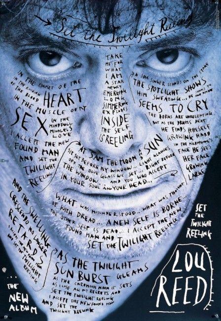 affiche Lou Reed par Sagmeister
