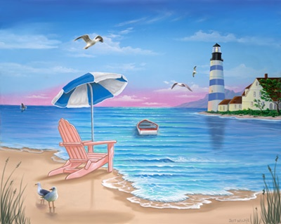 86 best images about murals on pinterest for Beach mural painting
