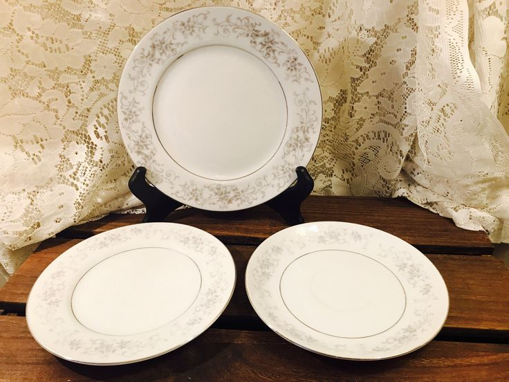 Camelot China Dinnerware in Carrousel 1315 - Made In Japan - Saucers, Salad Plates, Bread and Butter Plates by StaceysHutch on Etsy