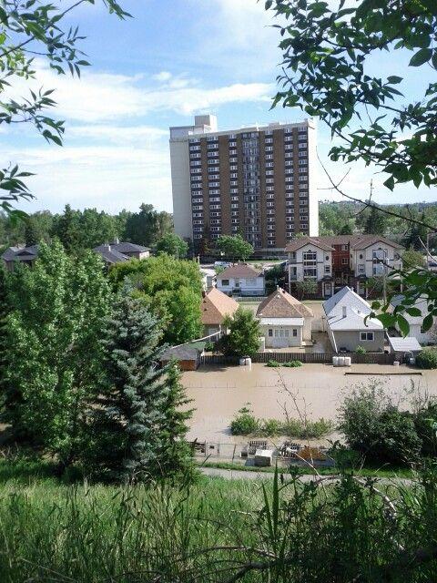 Calgary flood 2013, Bridgeland