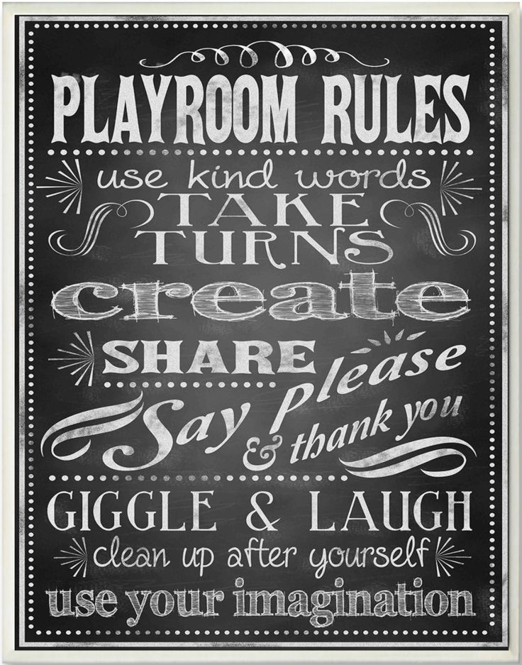 Playroom Rules #signs #playroom