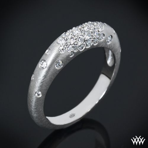"""Champagne Pave Diamond Right Hand Ring Beauty at its best, the """"Champagne Pave"""" Diamond Right Hand Ring shines with 54 A CUT ABOVE® Hearts and Arrows Diamond Melee"""