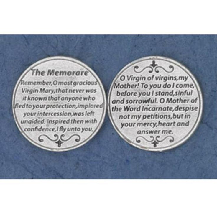 25 The Memorare Prayer Coins >>> Quickly view this special  product, click the image : Fashion Brooches and Pins