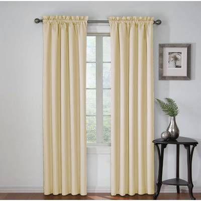 Mysliwiec Floral Twist Solid Semi-Sheer Tab Top Single Curtain Panel