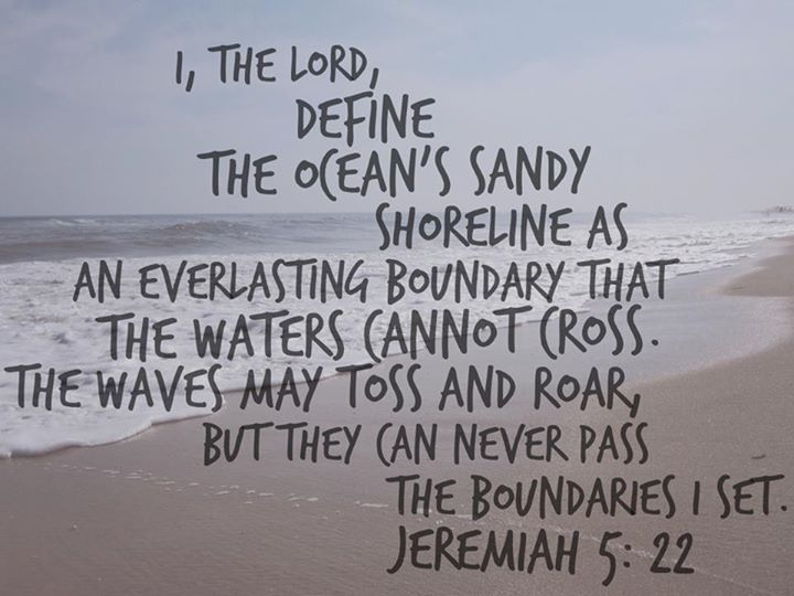 | Jeremiah 5:22 | Thank you LORD.