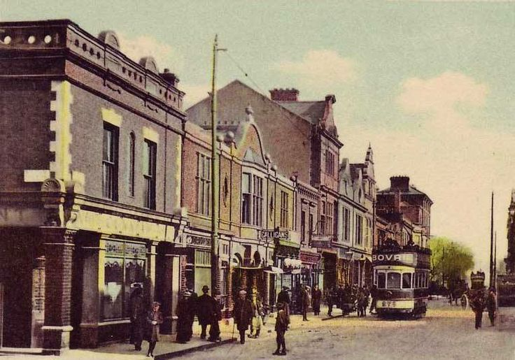 Old postcard of Georges St, Dun Laoghaire