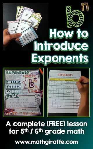 -- a complete, free lesson (with a collection of all the resources you need) --  Grade Level: 5/6 Skills: understanding & simplifying a basic exponential expression (b^n) Materials: colored pencils,