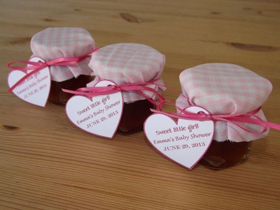 set of 12 baby shower favors jam jar favors christening favors baby