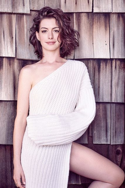 Anne Jacqueline Hathaway (American) (actor) (dress) (standing) (front)