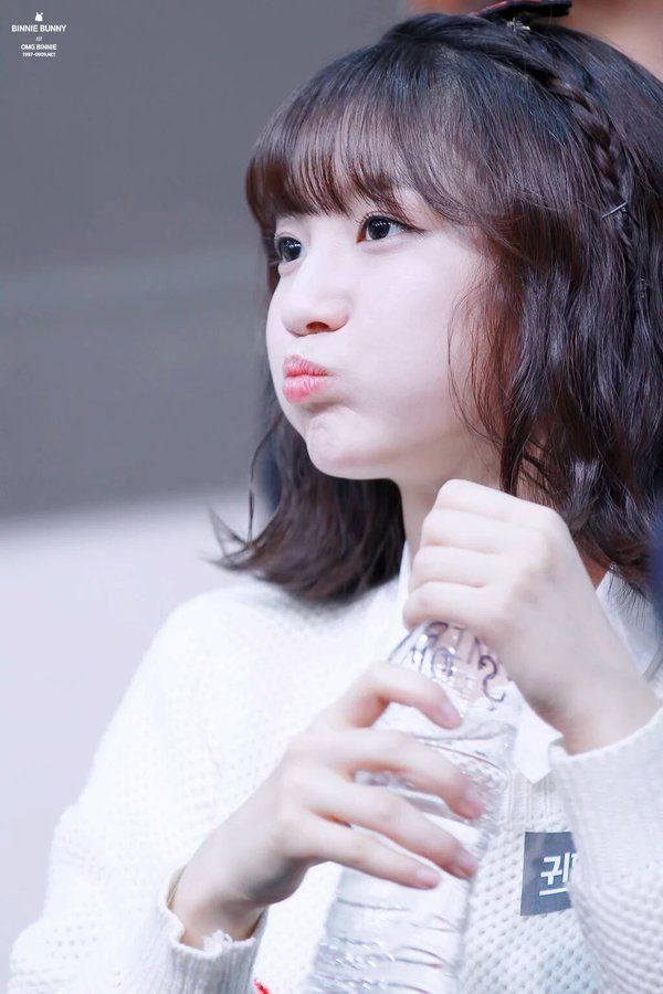 binnie - is actually a bunny - deepest voice in the group - but still sounds so cute - she likes to bow