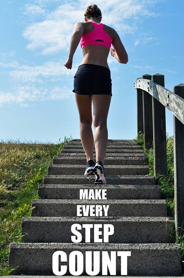nike fitspo fitster harlingen motivatie make every step count running rennen sport