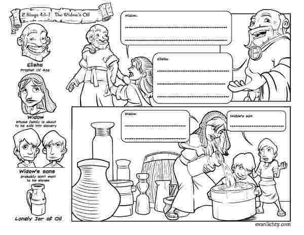 Elijah Helps The Widow Coloring Pages Elijahhelpsapoorwidow