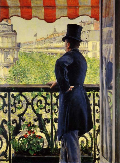 Man on a Balcony by Gustave Caillebotte, 1880- AMAZING!