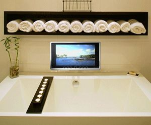 Waterproof Tv I Want This Bathroom Set Up