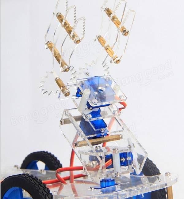4 bras robotisé dof 3ème machine de tournage diy kit de bras automobile p0090 servo