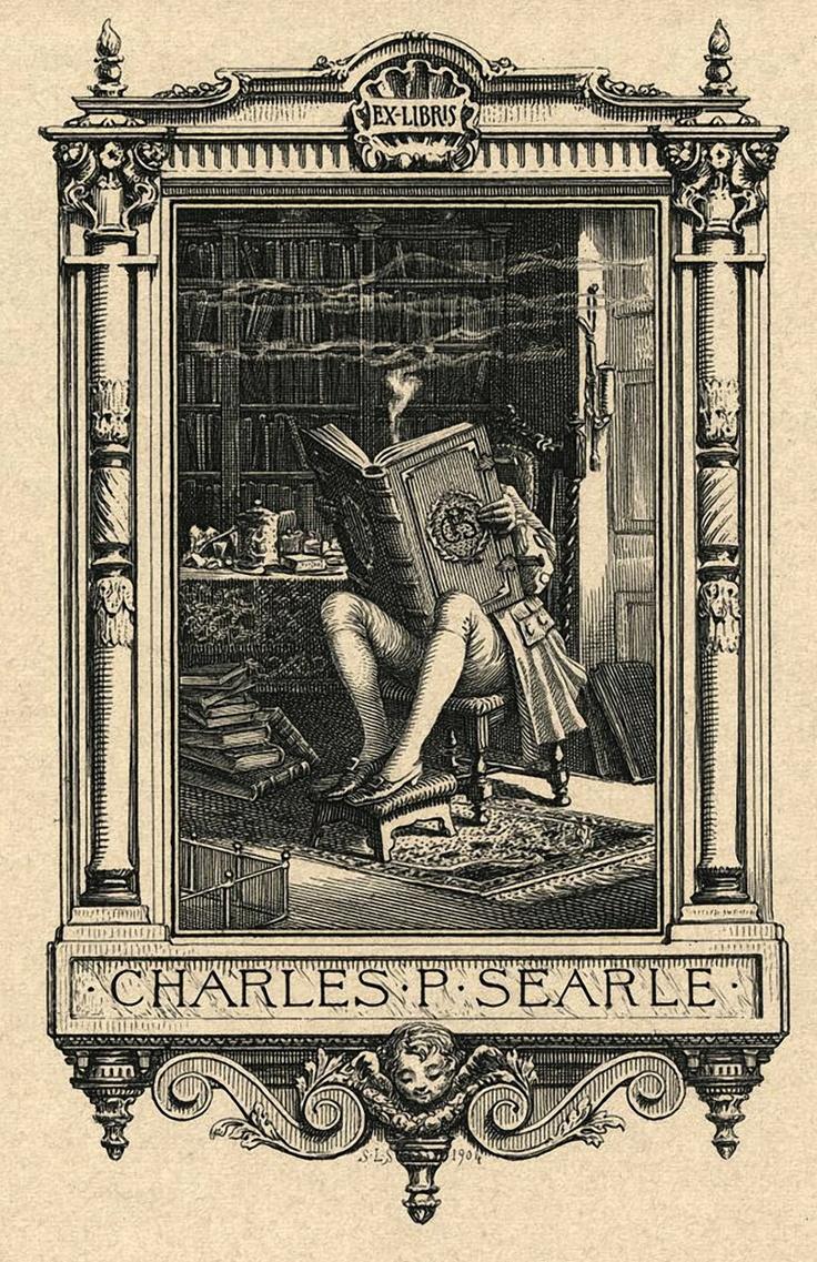 1904 bookplate of Charles P. Searle