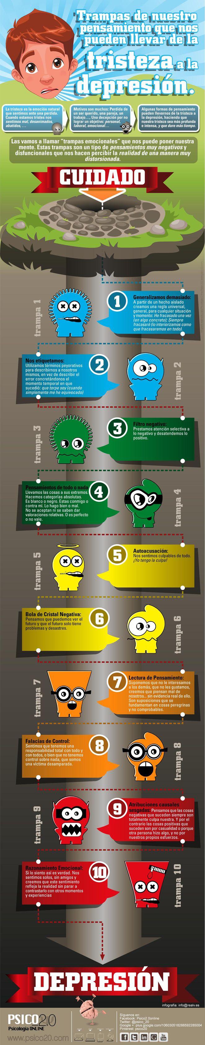 El paso de la tristeza a la depresión #infografia #infographic #health