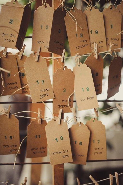 Wedding Sitting cards l Design by YAELANDPOLI Israel