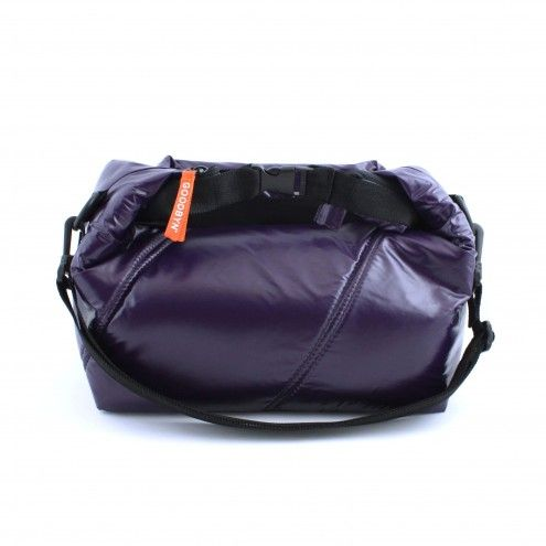 Goodbyn - torba zwijana bakłażanowa