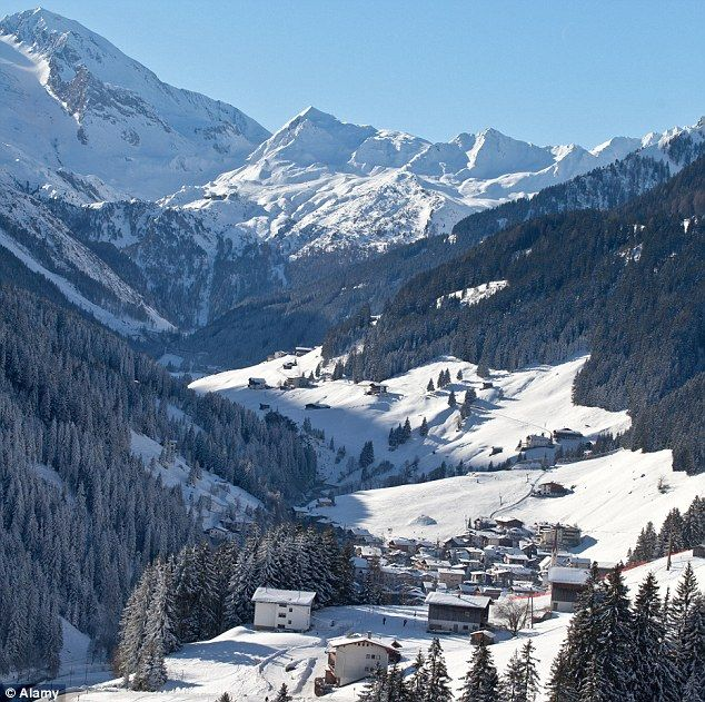 Mayrhofen (Austria) is located in the picturesque Zillertal Valley.