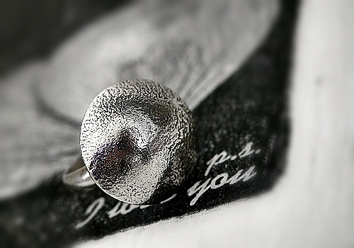 Handmade ring.