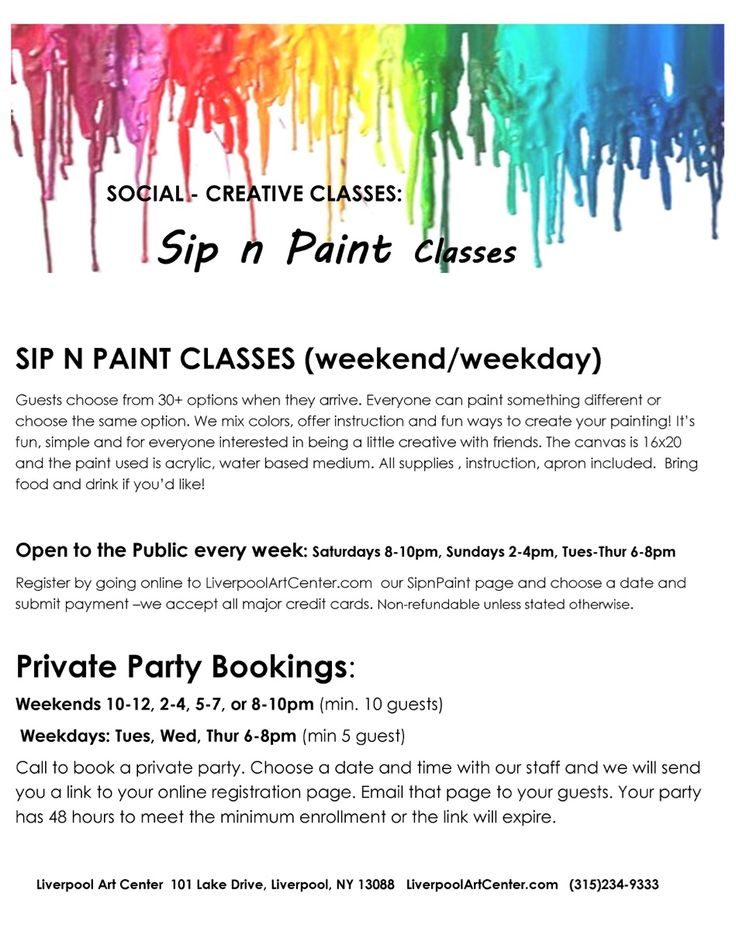Sip n paint classses liverpoolartcenter sandra for Sip and paint