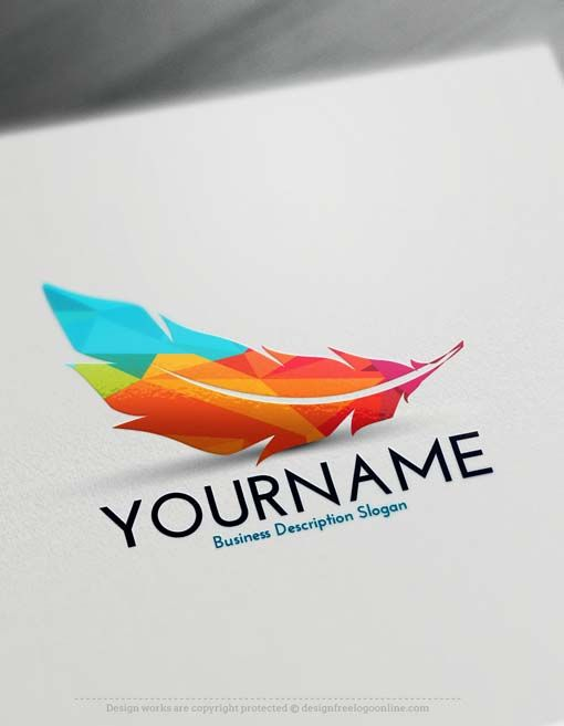 Logo Maker Free Feather Logo Creator